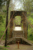 Мост парка штата Tishomingo отбрасывая Стоковое Фото
