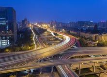 Мост Пекина на ноче стоковые фотографии rf