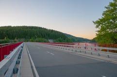 Мост пересекая резервуар Oker Стоковые Фото