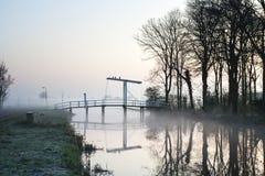 Мост подъема на Ouderkerk стоковые фотографии rf
