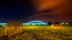 Мост поезда в Загребе Стоковое Изображение RF