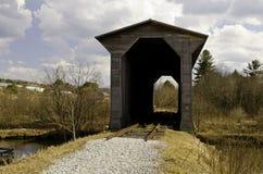 мост покрыл исторический бездействующий поезд стоковые изображения rf