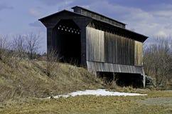 мост покрыл исторический поезд стоковая фотография rf