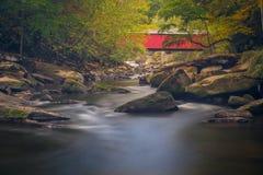 мост покрыл красный цвет Стоковые Изображения RF