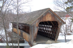 мост покрыл henniker Стоковые Фото