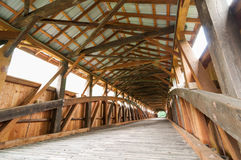 мост покрыл интерьер Стоковое фото RF