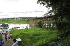 мост понедельник деревянный Стоковое Фото