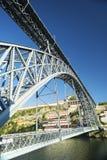 Мост Порту Португалия Dom luis Стоковые Фотографии RF