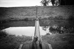Мост под водой, мост Моисея стоковое изображение