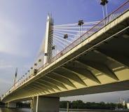 Мост под заходом солнца в Гуанчжоу Стоковые Изображения RF