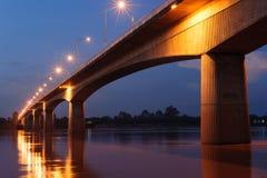 Мост приятельства Таиланда или Лаоса стоковое изображение rf