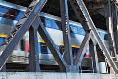 мост проходя поезд Стоковое Изображение