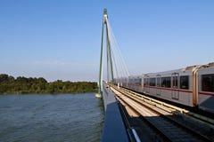 мост проходя поезд Стоковое фото RF