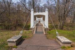 Мост пути ноги подвеса провода стоковое фото