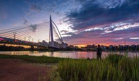 Мост Путраджайя иконический Стоковое фото RF