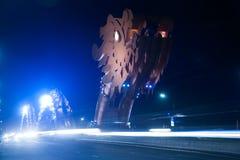 Мост дракона на ноче в Da Nang, Вьетнаме Стоковые Фотографии RF