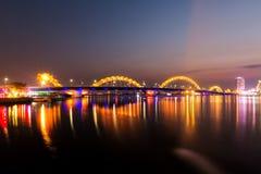 Мост дракона, Da Nang, Вьетнам Стоковое Изображение RF
