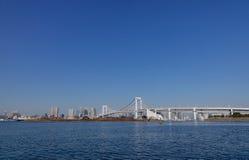 Мост радуги на районе Odaiba в токио, Японии Стоковые Фотографии RF