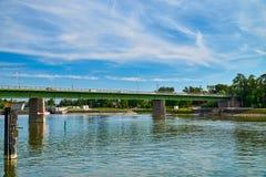 Мост Рейна и замок канала Стоковая Фотография RF