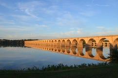 Мост Река Susquehanna Harrisburg Пенсильвания улицы рынка стоковое фото rf
