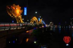 Мост реки дракона (мост Rong) в Da Nang, Вьетнаме Стоковое фото RF