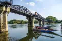 Мост реки Kwai, Kanchanaburi, Таиланда Стоковое Фото