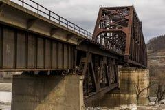 Мост Рекы Огайо - Weirton, Западная Вирджиния и Steubenville, Огайо Стоковые Изображения RF