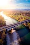 Мост-рек-Хорватия Стоковые Изображения RF