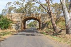 Мост рельса дороги блэкджека был построен твердого гранита, найденный по месту от карьеров на близрасположенном держателе Алексан Стоковое Изображение RF