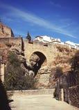 мост римский Ronda, Малага, Андалусия, Испания Стоковые Фотографии RF