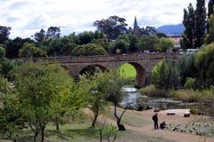 Мост Ричмонда в Ричмонде Тасмании Австралии стоковая фотография rf
