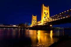 Мост Сакраменто стоковые фотографии rf