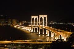 Мост Сан болезненный, Макао Стоковая Фотография