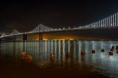 Мост Сан-Франциско залива Окленд стоковое изображение rf