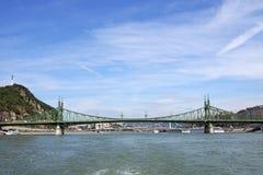 Мост свободы на Дунае Будапеште Стоковые Фотографии RF