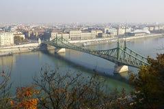 Мост свободы в Будапеште, Венгрии Стоковое Фото