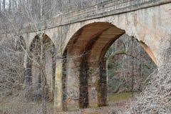 Мост свода Adandoned в сельских южных США Стоковое Фото