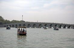 Мост 17-свода в летнем дворце, Пекине, Китае Стоковое Фото