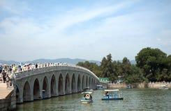 Мост 17-свода в летнем дворце, Пекине, Китае Стоковые Фото