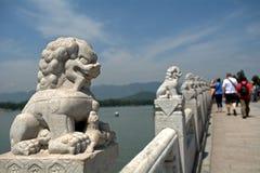 Мост 17-свода в летнем дворце, Пекине, Китае Стоковые Фотографии RF