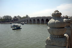 Мост 17-свода в летнем дворце, Пекине, Китае Стоковые Изображения
