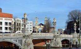 Мост сини Blauwbrug Стоковое Изображение