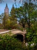 Мост смычка - Central Park стоковые изображения rf