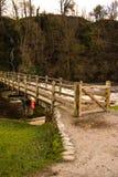 Мост стартовой площадки аббатства Bolton Стоковое фото RF