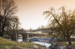 мост старый стоковое изображение