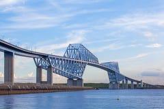 Мост строба токио на времени захода солнца Стоковое Изображение RF