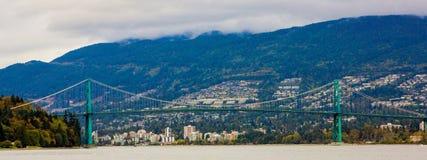 Мост строба льва, Ванкувер, ДО РОЖДЕСТВА ХРИСТОВА Стоковая Фотография