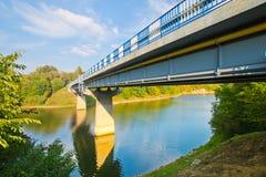 Мост с взглядом реки Стоковое фото RF