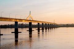 Мост Таиланд - Лаос приятельства Стоковая Фотография
