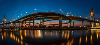 мост Таиланд bhumibol bangkok Стоковые Фотографии RF